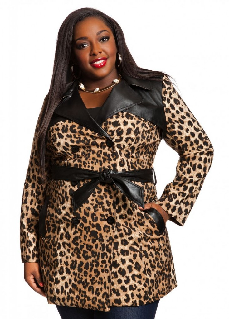 Cheetah Print Trench Coat $48.65