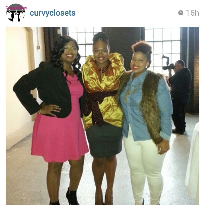 L to R : Kurvy Katie, Shainna and I. Curvy Closets.