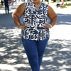 Plus Size Blogger Wearing Foxcroft