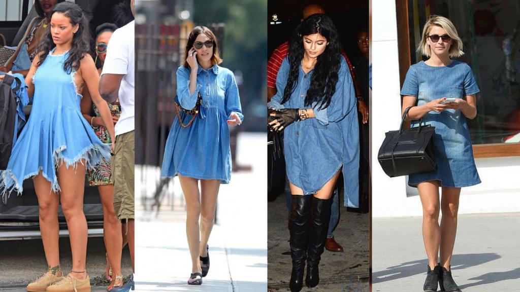 Celebrities in Denim Dresses