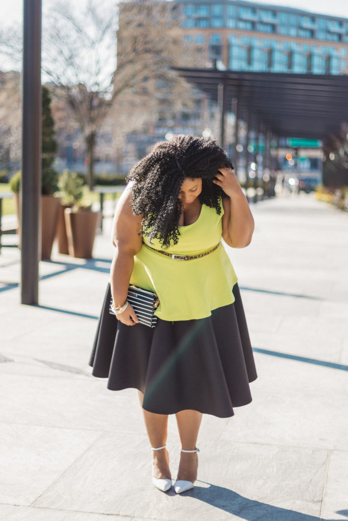 Plus Size Blogger wearing mixed prints Chardline