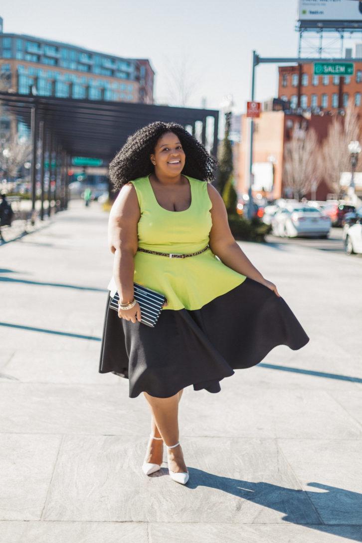 Plus Size Blogger Mix Prints Chardline