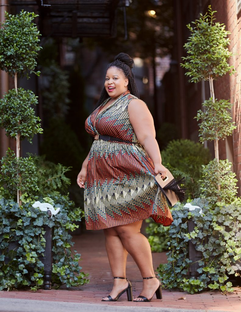 Plus Size African Print Blogger Grass-fields