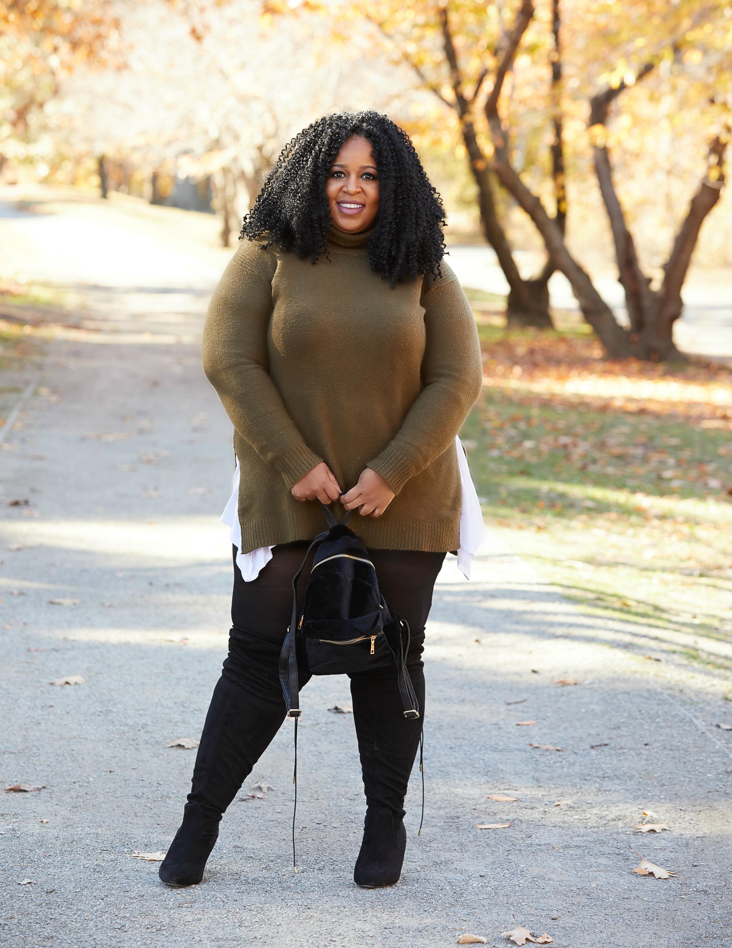 Plus Size Turtleneck Sweater on Plus Size Blogger