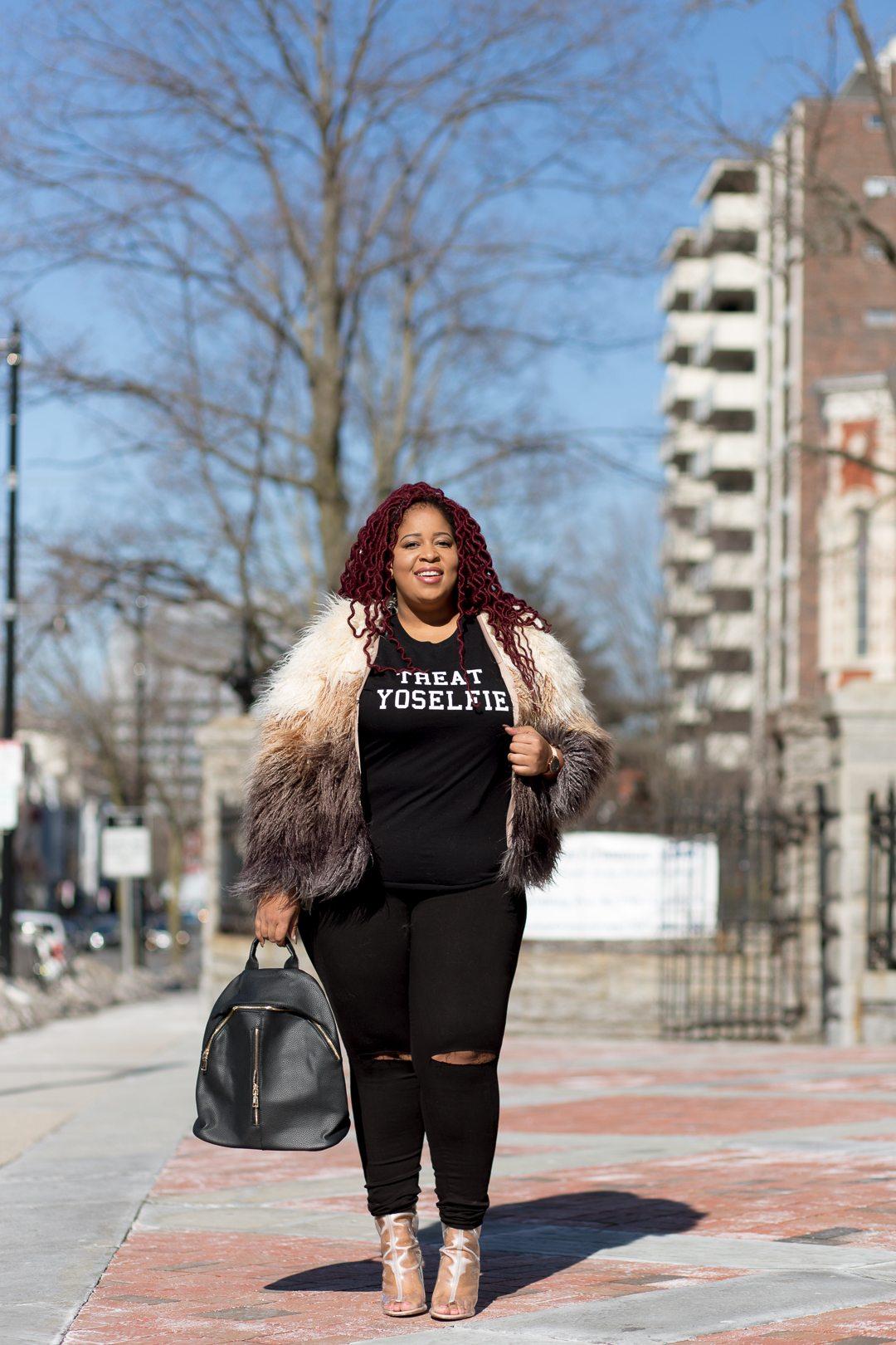 Plus Size Blogger wearing Shop Love Yourz