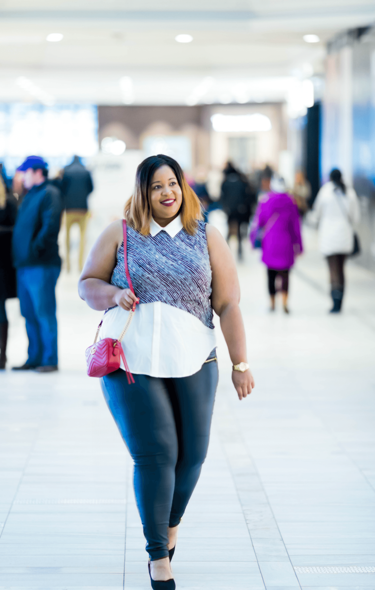 Plus Size Leather Pants for City Chic for Macy's