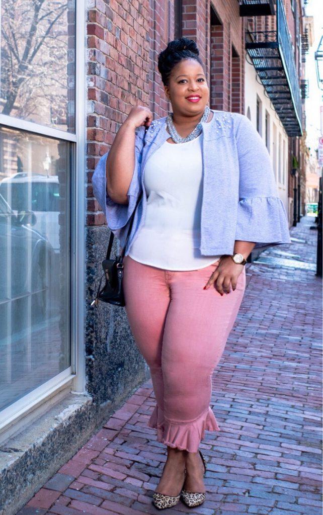 Lane Bryant Pink Dress Plus Size Ruffles