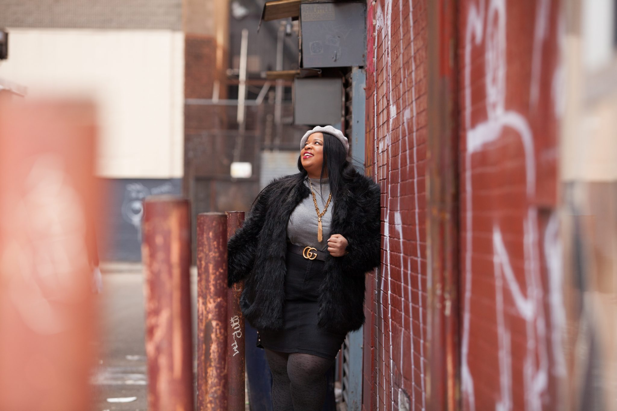 Roaman's Plus Size Fur Jacket