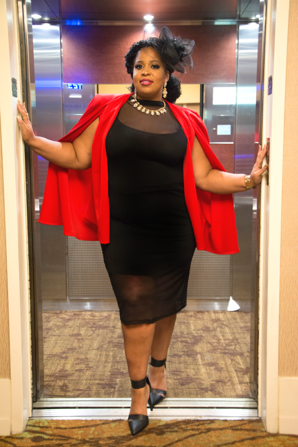 Blazer: c/o Fashion to Figure Dress: Rebdolls Shoes: Just Fab Accessories: Assorted Confidence: ON FLEEK