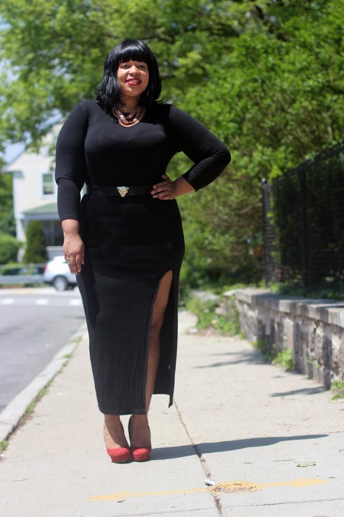 Dress: Pop Up Plus Ny Belt: H&M Shoes: BCBG