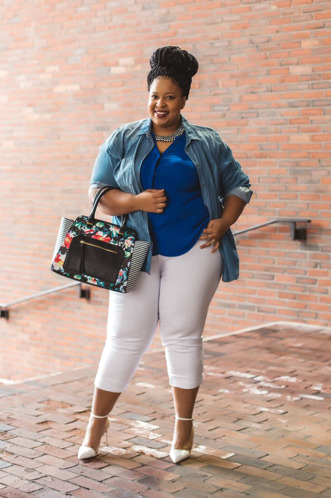 Chardline from Plus Size Beausion wearing Kohl's.
